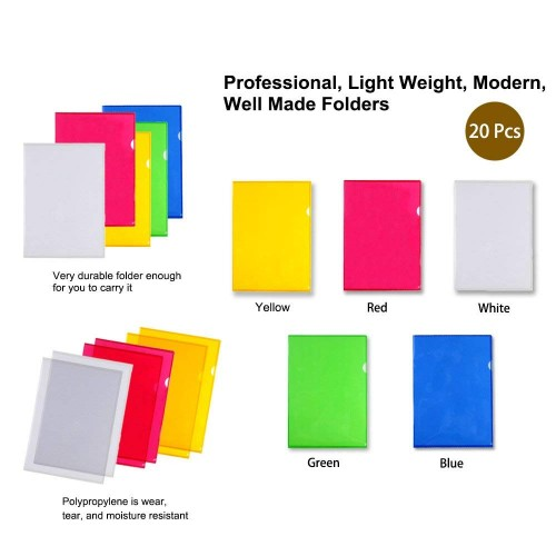 LoveS Clear Document Folder Project Pockets S... A4 size Folders with Pockets